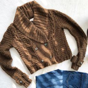 Ann Taylor Loft Chunky Button Alpaca Sweater- Sz S